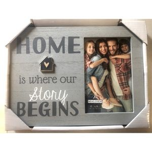 Picture frame- home is where our story begins 4x6
